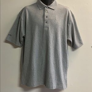 PING gray collared golf polo shirt medium